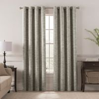 Chantal 108-Inch Grommet Room Darkening Window Curtain Panel in Stone