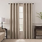 Chantal 84-Inch Grommet Room Darkening Window Curtain Panel in Linen
