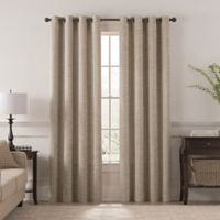 Chantal 84-Inch Grommet Room Darkening Window Curtain Panel in Linen