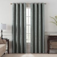 Chantal 95-Inch Grommet Room Darkening Window Curtain Panel in Grey