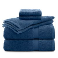 Utica Essentials 6-Piece Bath Towel Set in Blue