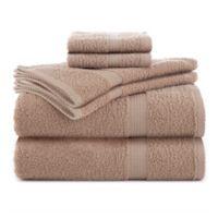 Utica Essentials 6-Piece Bath Towel Set in Linen