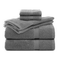 Utica Essentials 6-Piece Bath Towel Set in Monument Grey