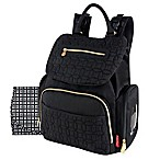 Fisher Price® Hayden Quilted Backpack Diaper Bag in Black