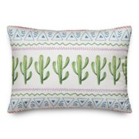 Designs Direct Aztec Cactus Throw Pillow in Green