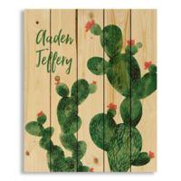 Designs Direct Cacti Buddies Pallet Wood Art in Green