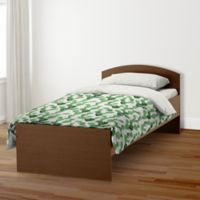 Designs Direct Watercolor Cactus Twin Duvet Cover in Green