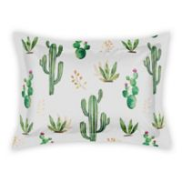 Designs Direct Small Cactus Pillow Sham in Green