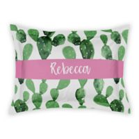 Designs Direct Watercolor Cactus Pillow Sham in Green