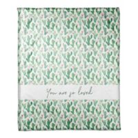 Designs Direct You Are So Loved Fleece Blanket in Green