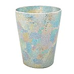 India Ink Aurora Cracked Glass Wastebasket in Pastel