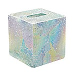 India Ink Aurora Cracked Glass Boutique Tissue Box Cover in Pastel