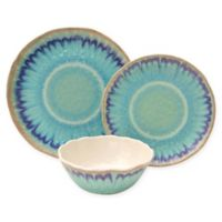 222 Fifth Sea Splash 12-Piece Dinnerware Set in Blue