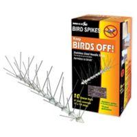 Bird-X 10-Feet Plastic Bird Control Spikes in Silver