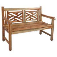 EcoDecors™ Kings Cross X Solid Teak Garden Bench
