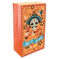 Day of the Dead 24-Pack Paper Luminaria Bags for Halloween
