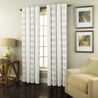 Spiral Rod Pocket Room Darkening 84-Inch Window Curtain Panel in White