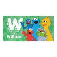 Sesame Street® Alphabet Beach Towel in Green