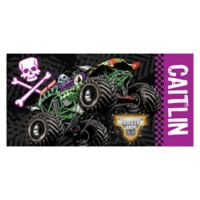 Monster Jam® Grave Digger Beach Towel in Purple