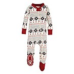 Burt's Bees Baby® Size 0-3M Snowflake Holiday Footed Pajama in Grey