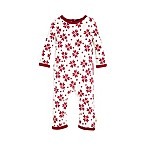 Burt's Bees Baby® Size 0-3M Geometric Snowflake Ruffled Coverall in Ivory