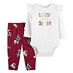carter's® Size 6M 2-Piece Cutest Sis Bodysuit and Legging Set in Ivory