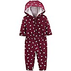 carter's® Size 3M Cat Hooded Romper in Burgundy