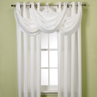 Insola® Odyssey Insulating Waterfall Window Valance In White