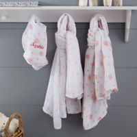 Floral 3-Piece Muslin Swaddle Baby Blanket & Bib Set