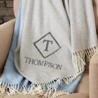 Monogram Elegance 51-Inch x 67-Inch Throw Blanket