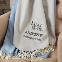 Wedded Pair 51-Inch x 67-Inch Throw Blanket