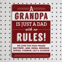 Grandpa's Rules Street Sign