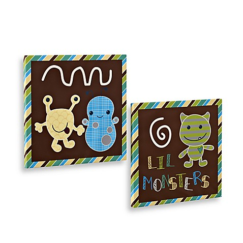 CoCaLo Baby® Peek-A-Boo Monsters Wall Art (Set of 2)