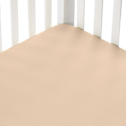 kidsline™ Jersey Knit Portable Sheet  in Tan