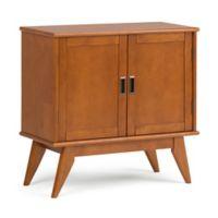 Simpli Home™ Draper Mid Century Modern Low Storage Cabinet in Brown