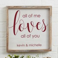 All of Me 12-Inch x 12-Inch Barnwood Frame Wall Art