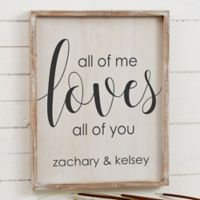 All of Me 14-Inch x 18-Inch Barnwood Frame Wall Art