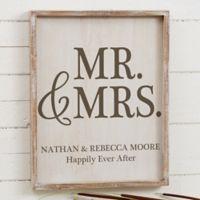 Mr. & Mrs. 14-Inch x 18-Inch Barnwood Frame Wall Art