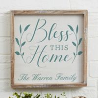 Bless This Home 12-Inch x 12-Inch Barnwood Frame Wall Art