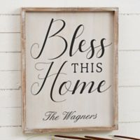 Bless This Home 14-Inch x 18-Inch Barnwood Frame Wall Art