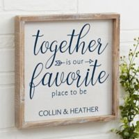 Together 12-Inch x 12-Inch Barnwood Frame Wall Art