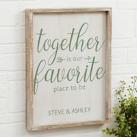 Together 14-Inch x 18-Inch Barnwood Frame Wall Art