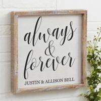 Always & Forever 12-Inch x 12-Inch Barnwood Frame