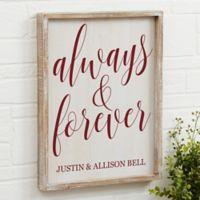 Always & Forever 14-Inch x 18-Inch Barnwood Frame