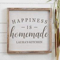 Happiness is Homemade 12-Inch x 12-Inch Barnwood Frame Wall Art