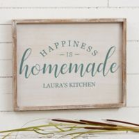 Happiness is Homemade 14-Inch x 18-Inch Barnwood Frame Wall Art