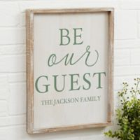 Be Our Guest 14-Inch x 18-Inch Barnwood Frame Wall Art