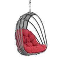 Modway Whisk Patio Swing Chair Without Stand in Red