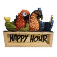 Happy Hour Parrots LED Solar Powered Plaque