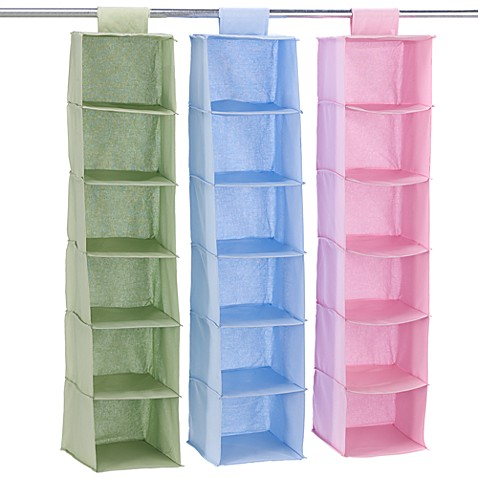 hanging 6 shelf closet organizer bed bath beyond